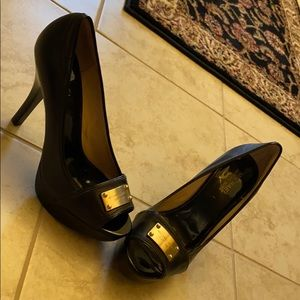 Black Michael Kors heels pumps